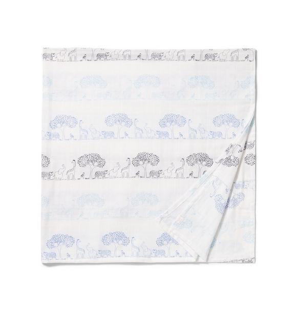 Animal Parade Swaddle Blanket