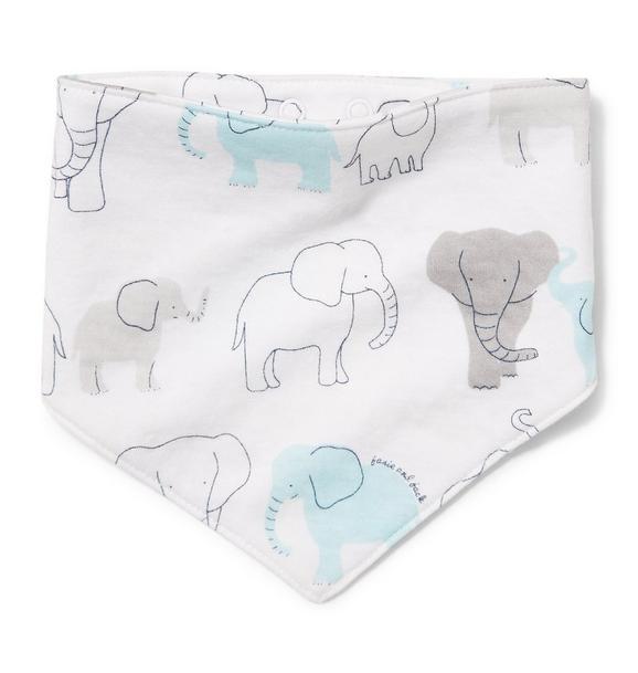 Elephant Print Bandana Bib