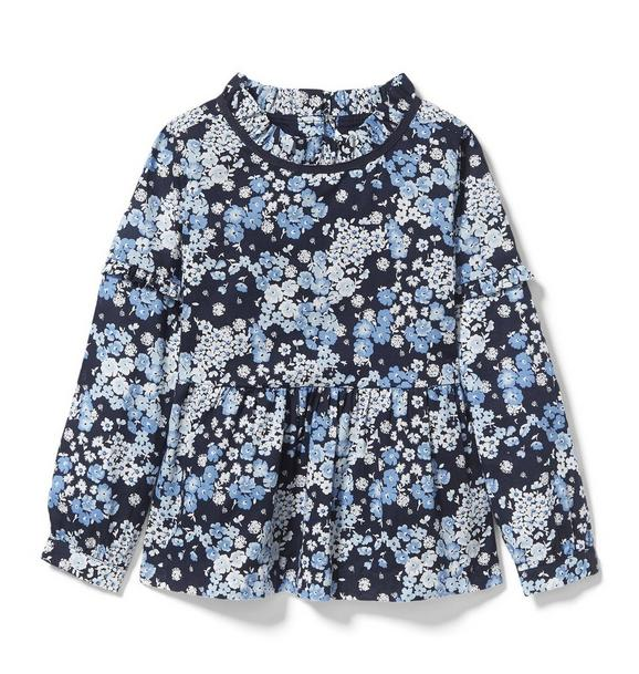 Ditsy Floral Peplum Top