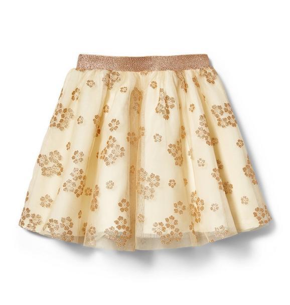 Glitter Floral Tulle Skirt