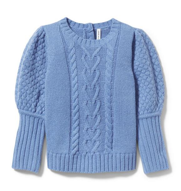 Puff Sleeve Cable Knit Sweater