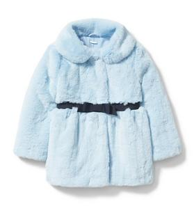 Faux Fur Ribbon Coat