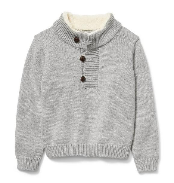 Sherpa Collar Pullover