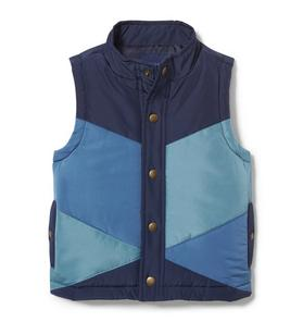 Colorblocked Puffer Vest