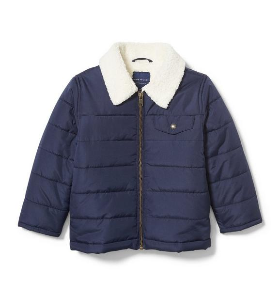 Water Resistant Sherpa Lined Puffer Jacket