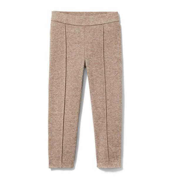 Marled Knit Jacquard Pant