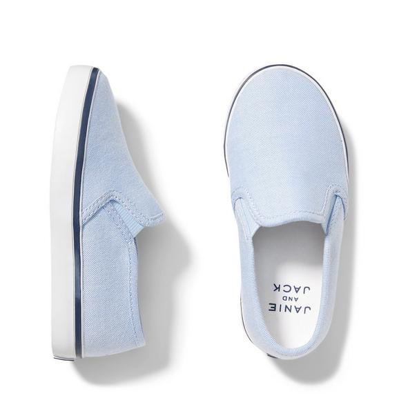 Oxford Cotton Slip On Sneaker