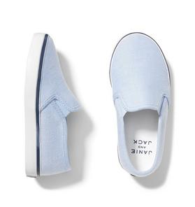 Oxford Cotton Slip On Sneaker