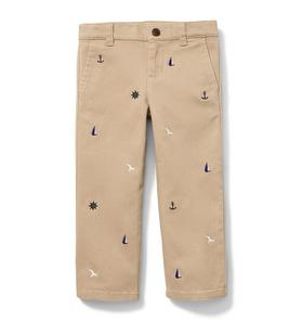 Nautical Stretch Twill Pant
