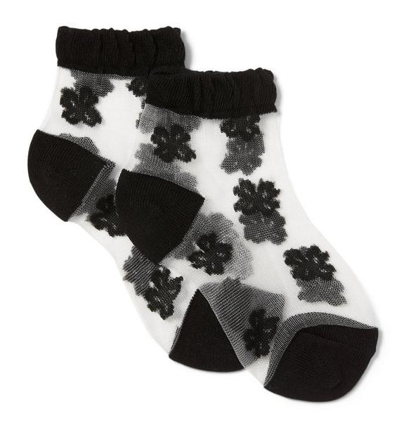 Sheer Floral Sock