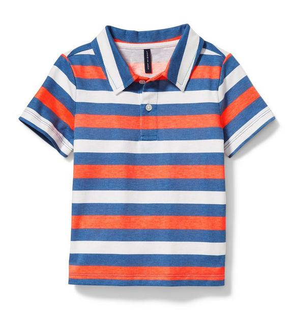 Neon Stripe Polo