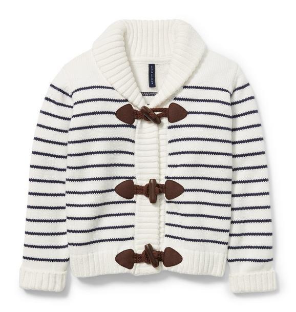 Shawl Collar Stripe Cardigan