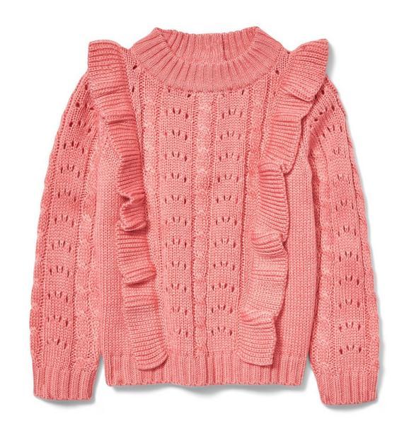 Ruffle Eyelet Sweater