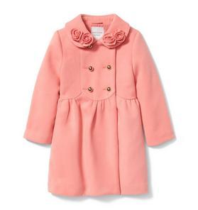 Rosette Collar Coat