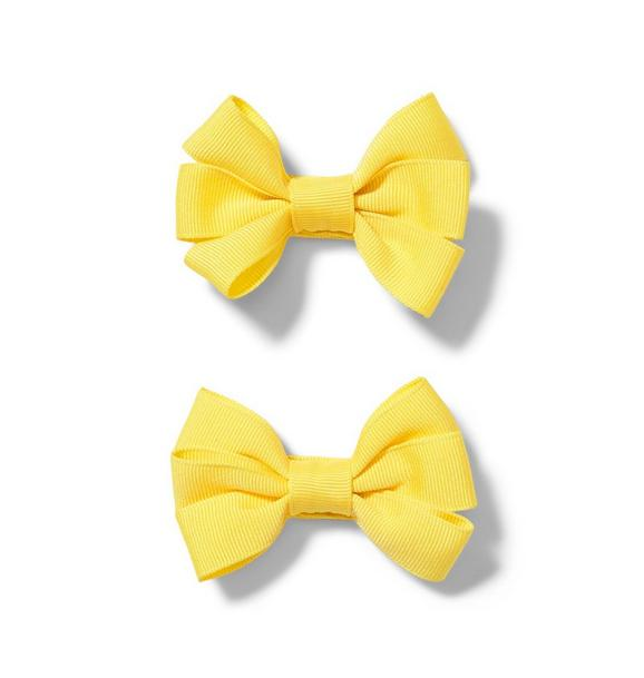 Yellow Bow Barrette 2-Pack