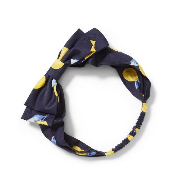 Lemon Print Bow Headband