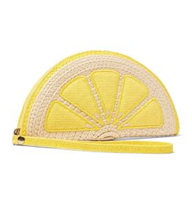Lemon Wedge Woven Purse