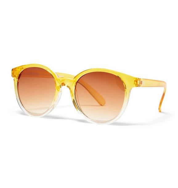 Yellow Ombre Tinted Sunglasses