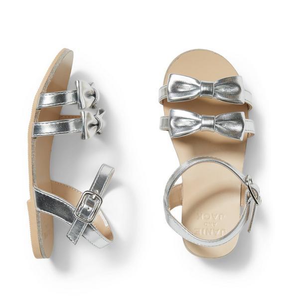 Silver Bow Sandal