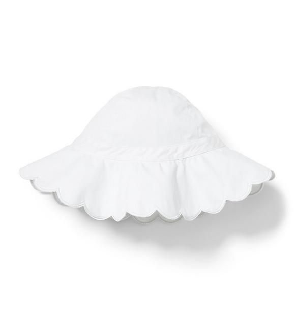 Scalloped Trim Bucket Hat