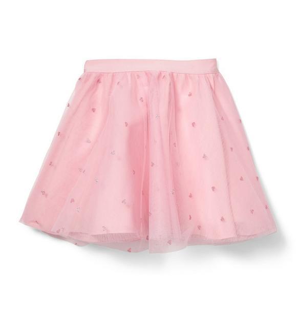 Glitter Heart Tulle Skirt