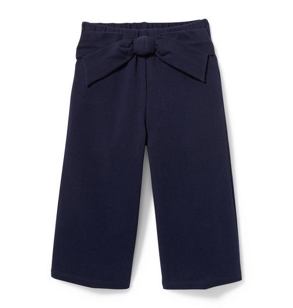Front Tie Wide-Leg Pant