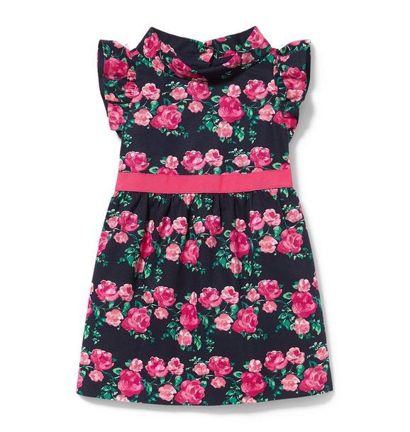 Rose Mock Neck Dress