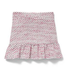 Ruffle Hem Bouclé Skirt