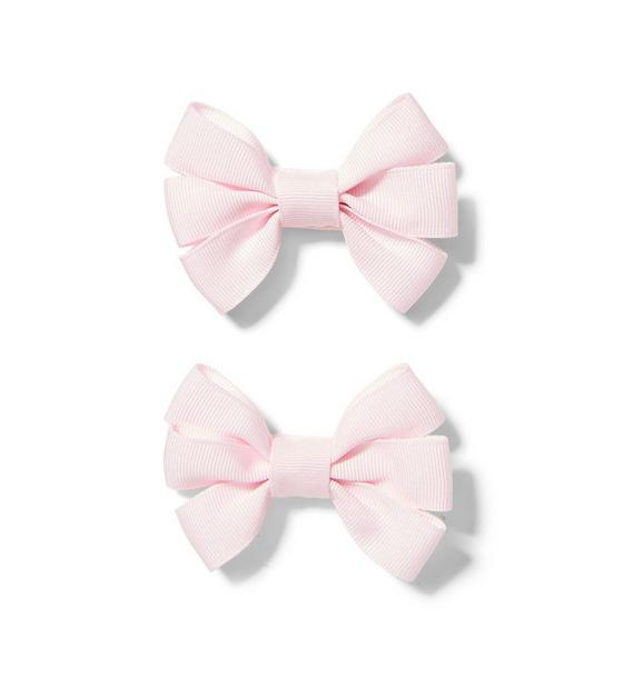 Ribbon Bow Barrette 2-Pack