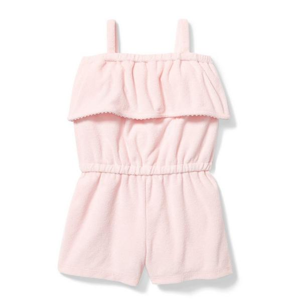 Ruffle Terry Romper Cover Up