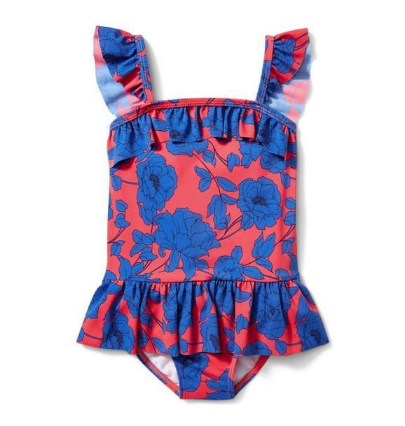 Floral Peplum Swimsuit
