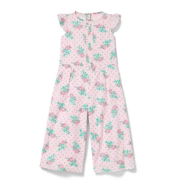 Swiss Dot Floral Jumpsuit