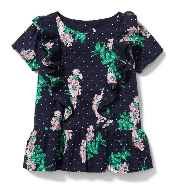 Swiss Dot Floral Top