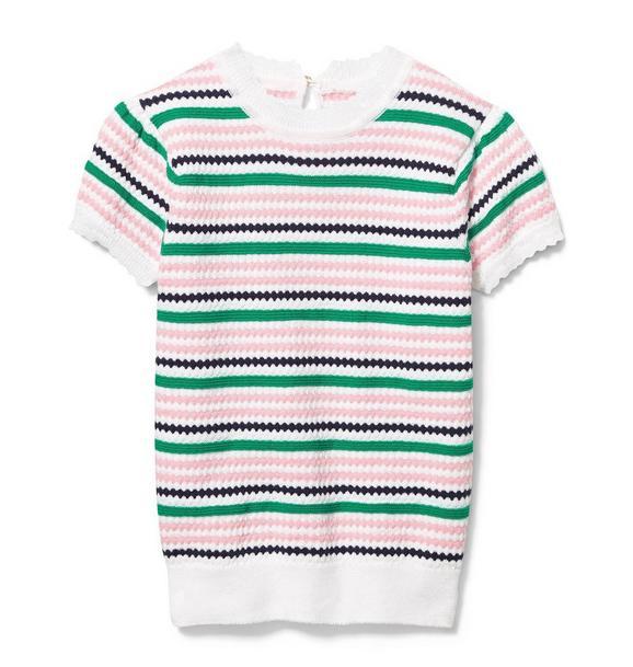Textured Knit Stripe Sweater