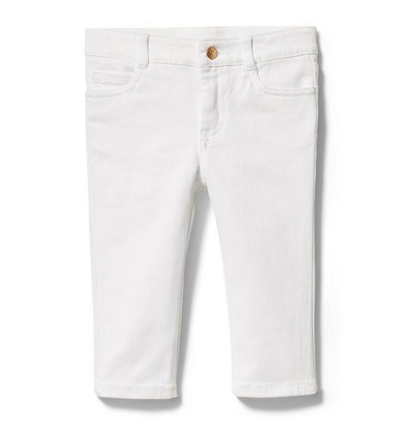 White Denim Crop Jeans