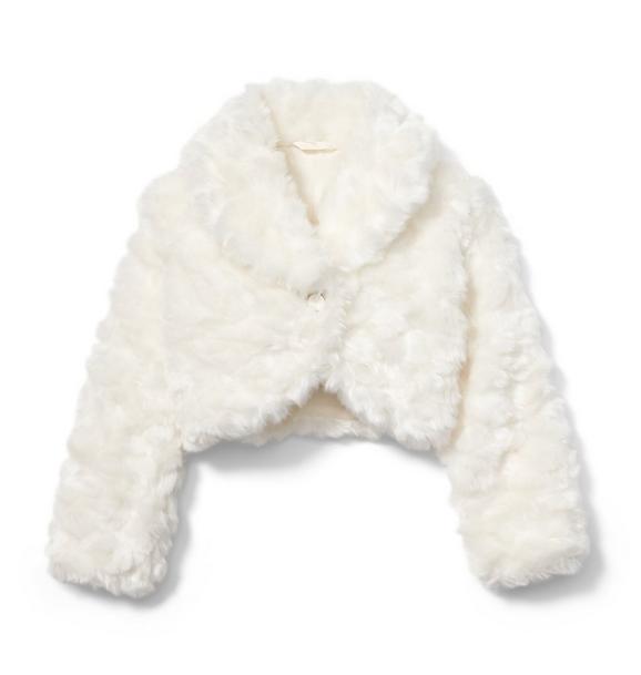 Rachel Zoe Faux Fur Cropped Jacket