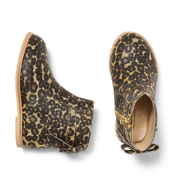 Rachel Zoe Glitter Cheetah Bootie