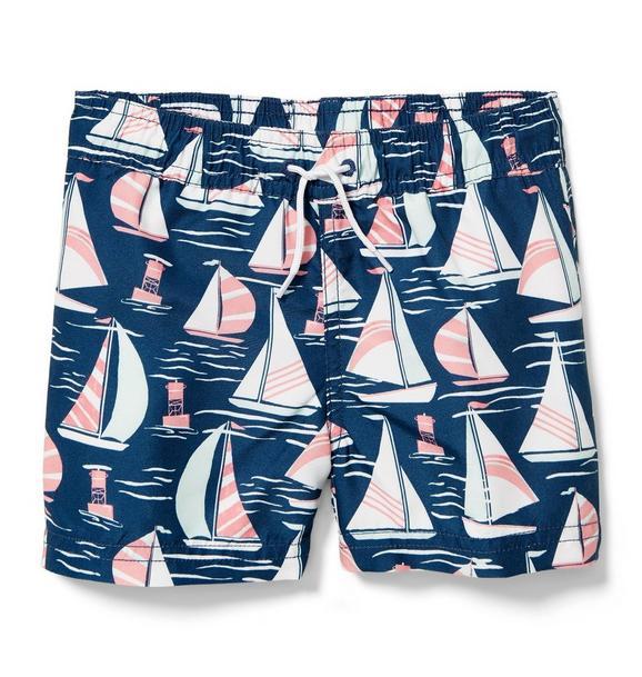 Sailboat Swim Trunks
