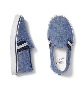 Chambray Stripe Slip On Sneaker