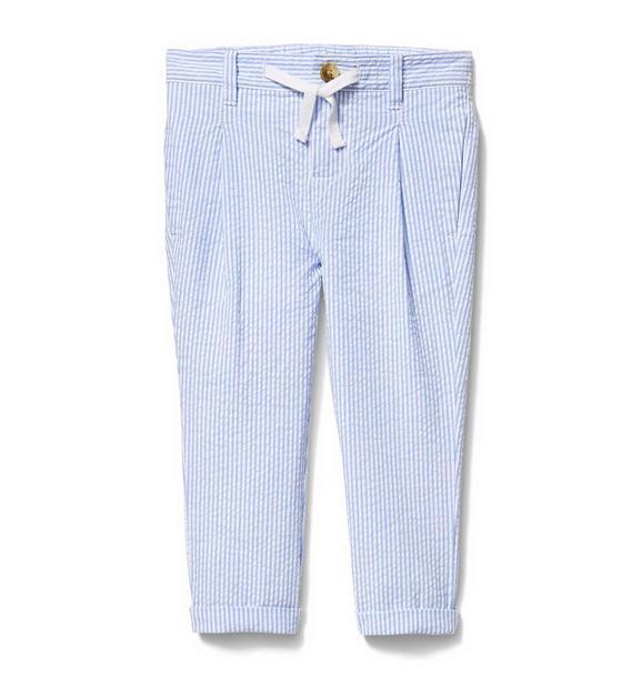 Drawstring Seersucker Pant