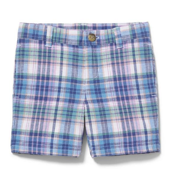 Plaid Linen Short