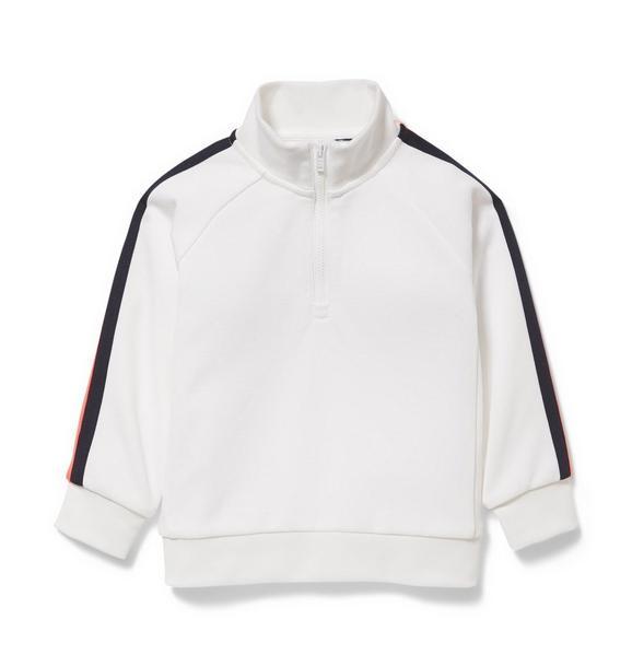 Half-Zip Stripe Pullover