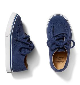 Suede Wingtip Sneaker