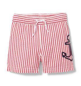 Anchor Striped Swim Short