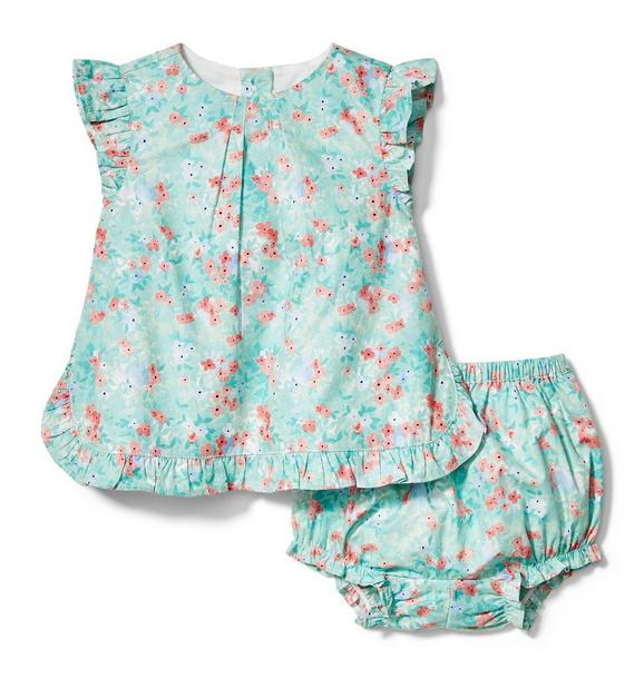 Ditsy Floral Ruffle Matching Set