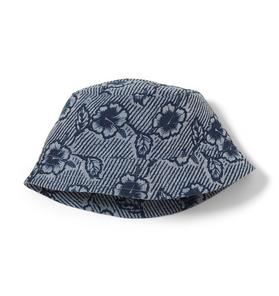 Floral Print Linen Bucket Hat