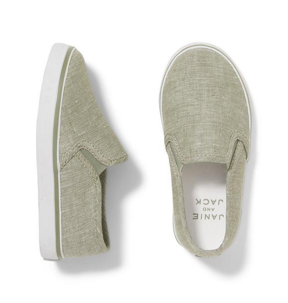 Linen Slip On Sneaker