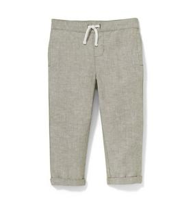Rolled Cuff Linen Pant