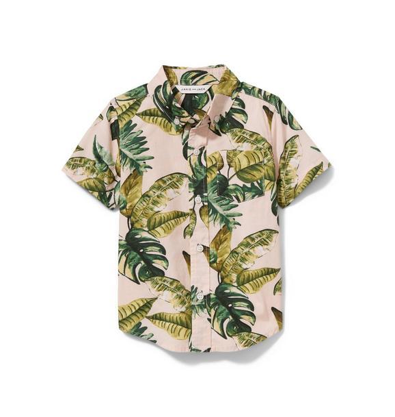Palm Print Poplin Shirt