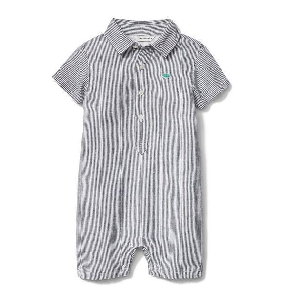 Linen Stripe Shortie 1-Piece